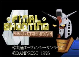 Title screen of Mobil Suit Gundam Final Shooting on the Arcade.