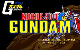 Title screen of Mobile Suit Gundam on the Arcade.