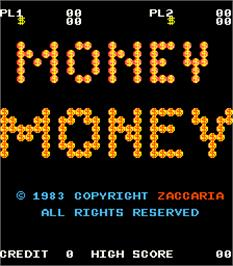Title screen of Money Money on the Arcade.
