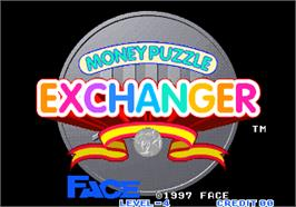 Title screen of Money Puzzle Exchanger / Money Idol Exchanger on the Arcade.