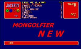 Title screen of Mongolfier New on the Arcade.