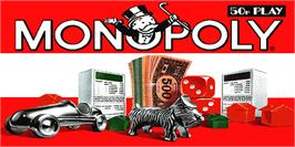 Title screen of Monopoly on the Arcade.
