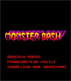 Title screen of Monster Bash on the Arcade.
