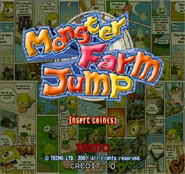Title screen of Monster Farm Jump on the Arcade.