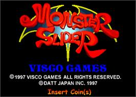 Title screen of Monster Slider on the Arcade.
