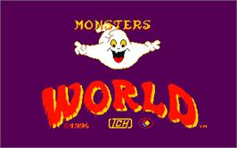 Title screen of Monsters World on the Arcade.