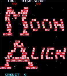 Title screen of Moon Alien Part 2 on the Arcade.