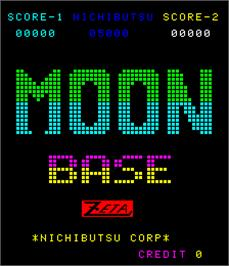 Title screen of Moon Base on the Arcade.