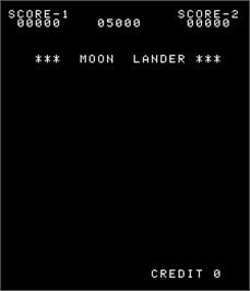 Title screen of Moon Lander on the Arcade.