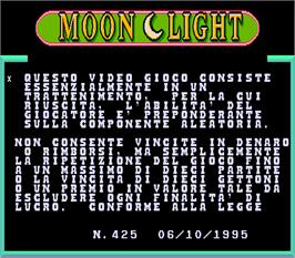 Title screen of Moon Light on the Arcade.