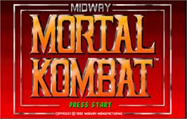 Title screen of Mortal Kombat on the Arcade.