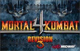 Title screen of Mortal Kombat 4 on the Arcade.