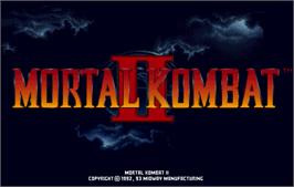 Title screen of Mortal Kombat II on the Arcade.