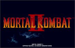 Title screen of Mortal Kombat II Challenger on the Arcade.