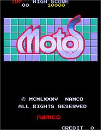 Title screen of Motos on the Arcade.