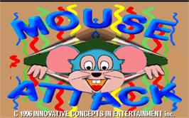Title screen of Mouse Attack on the Arcade.