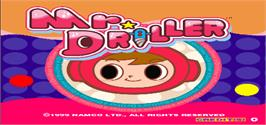 Title screen of Mr. Driller on the Arcade.