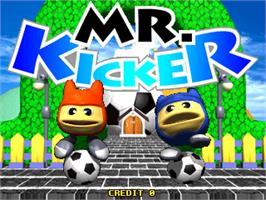 Title screen of Mr. Kicker on the Arcade.