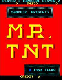 Title screen of Mr. TNT on the Arcade.
