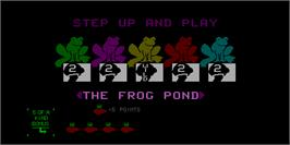 Title screen of Multi-Poker on the Arcade.