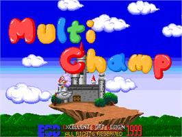 Title screen of Multi Champ on the Arcade.