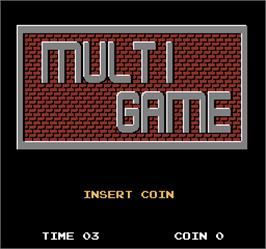 Title screen of Multi Game on the Arcade.