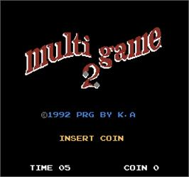 Title screen of Multi Game 2 on the Arcade.