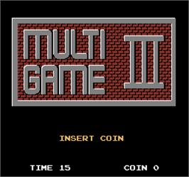 Title screen of Multi Game III on the Arcade.