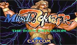 Title screen of Muscle Bomber: The Body Explosion on the Arcade.
