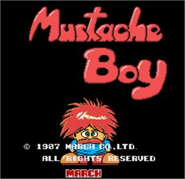 Title screen of Mustache Boy on the Arcade.