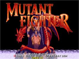 Title screen of Mutant Fighter on the Arcade.