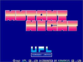 Title screen of Mutant Night on the Arcade.