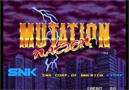 Title screen of Mutation Nation on the Arcade.