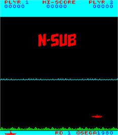 Title screen of N-Sub on the Arcade.