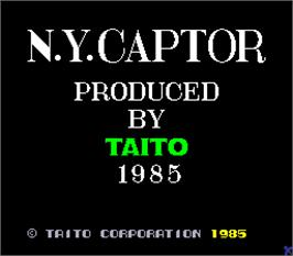Title screen of N.Y. Captor on the Arcade.