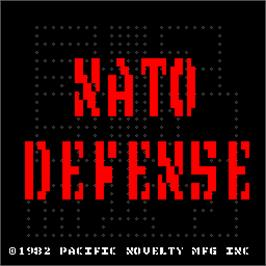 Title screen of NATO Defense on the Arcade.
