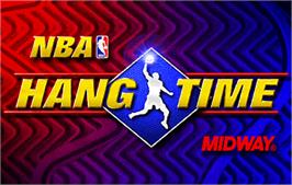 Title screen of NBA Hangtime on the Arcade.
