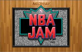 Title screen of NBA Jam on the Arcade.
