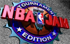 Title screen of NBA Jam TE on the Arcade.