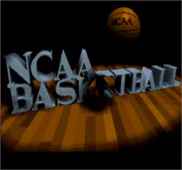 Title screen of NCAA Basketball on the Arcade.