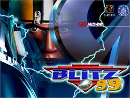 Title screen of NFL Blitz '99 on the Arcade.