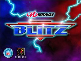 Title screen of NFL Blitz on the Arcade.