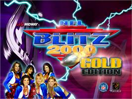 Title screen of NFL Blitz 2000 Gold Edition on the Arcade.