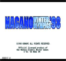 Title screen of Nagano Winter Olympics '98 on the Arcade.