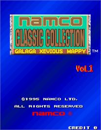 Title screen of Namco Classic Collection Vol.1 on the Arcade.