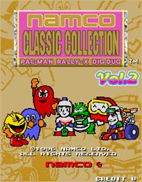 Title screen of Namco Classic Collection Vol.2 on the Arcade.