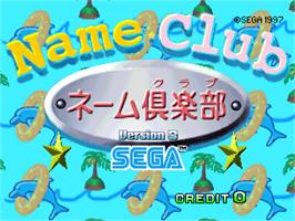 Title screen of Name Club Ver.3 on the Arcade.