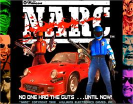 Title screen of Narc on the Arcade.