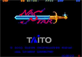 Title screen of Nastar on the Arcade.