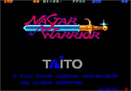Title screen of Nastar Warrior on the Arcade.